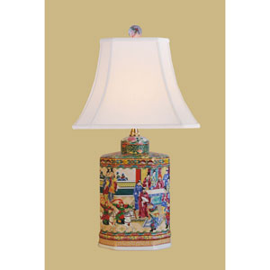 Porcelain Ware One-Light Multicolor Jar Lamp