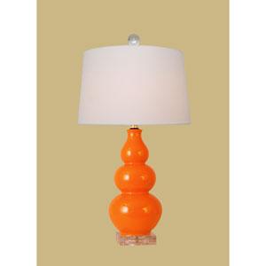 Orange 22-Inch Gourd Table Lamp