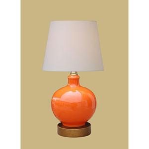 Porcelain Ware One-Light Small Orange Lamp