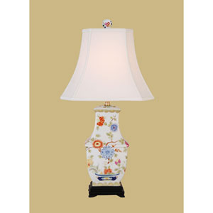 White 28-Inch Vase Table Lamp