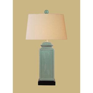 Porcelain Ware One-Light Celadon Jar Lamp