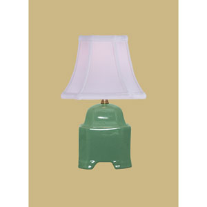 Porcelain Ware One-Light Small Celadon Lamp