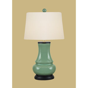 Porcelain Ware One-Light Celadon Vase Lamp