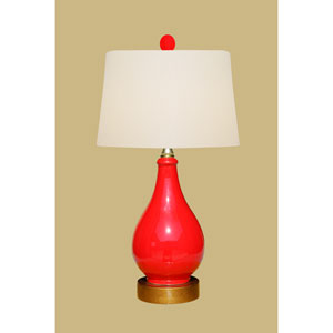Porcelain Ware One-Light Small Red Lamp