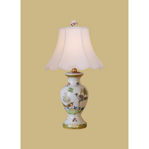 Porcelain Ware One-Light Multicolor Mini Lamp