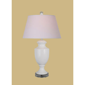 White 25.5-Inch Jar Table Lamp
