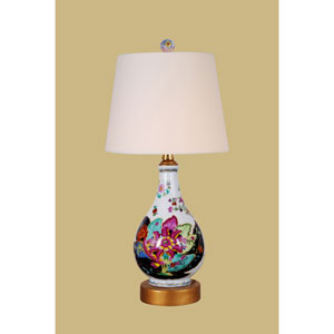 Porcelain Ware One-Light Multicolor Small Tobacco Lamp