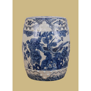 Blue and White Porcelain  Garden Stool