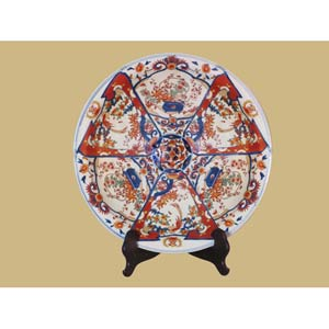 Imari Porcelain Plate with Stand