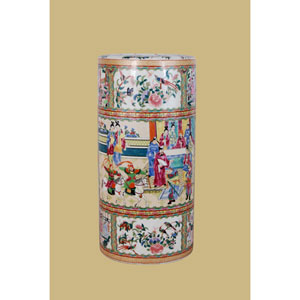 Multicolor Porcelain Umbrella Stand