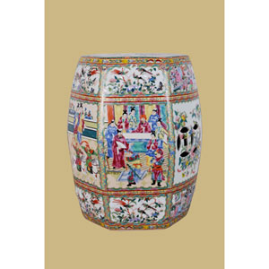 Multicolor Porcelain  Garden Stool