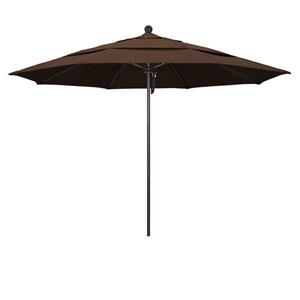 11 Foot Umbrella Fiberglass Market Pulley Open Double Vent Bronze/Pacifica/Mocha