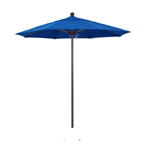 7.5 Foot Umbrella Fiberglass Market Pulley Open Bronze/Sunbrella/Pacific Blue