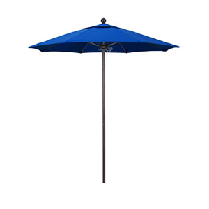7.5 Foot Umbrella Fiberglass Market Pulley Open Bronze/Olefin/Pacific Blue