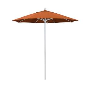 7.5 Foot Umbrella Fiberglass Market Pulley Open Matte White/Sunbrella/Tuscan