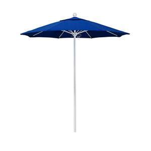 7.5 Foot Umbrella Fiberglass Market Pulley Open Matte White/Pacifica/Pacific Blue