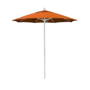 7.5 Foot Umbrella Fiberglass Market Pulley Open Matte White/Pacifica/Tuscan