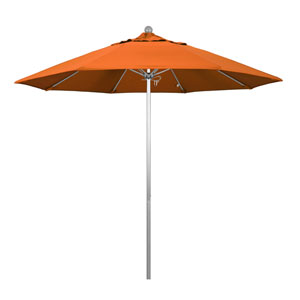 9 Foot Umbrella Fiberglass Market Pulley Open Anodized/Pacifica/Tuscan