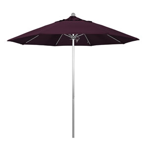 9 Foot Umbrella Fiberglass Market Pulley Open Anodized/Pacifica/Purple