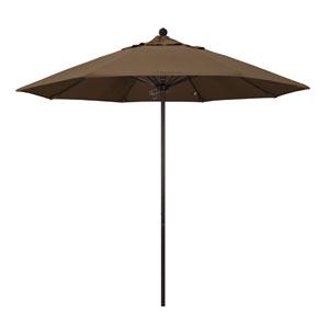 9 Foot Umbrella Fiberglass Market Pulley Open Bronze/Sunbrella/Cocoa