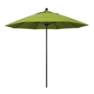 9 Foot Fiberglass Market Umbrella Pulley Open Bronze/Sunbrella/Macaw