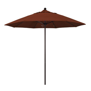 9 Foot Umbrella Fiberglass Market Pulley Open Bronze/Olefin/Terracotta