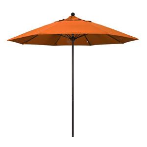 9 Foot Umbrella Fiberglass Market Pulley Open Bronze/Pacifica/Tuscan