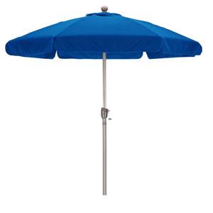 7.5 Foot Umbrella Wr Fiber Market Push Tilt Champagne/Spun Polyester/Pacific Blue