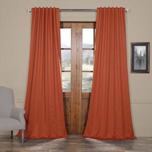 Rust Orange 108 x 50 In. Blackout Curtain Panel Pair