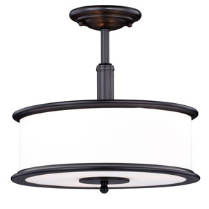 Carlisle Noble Bronze Three-Light Semi Flush Mount