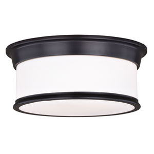 Carlisle Noble Bronze Two-Light Flush Mount