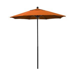 7.5 Foot Umbrella Complete Fiberglass Market Pulley Open Black/Pacifica/Tuscan