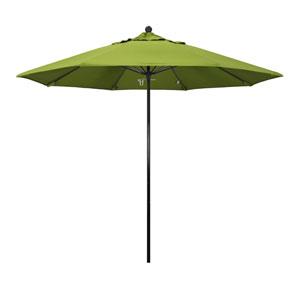 9 Foot Complete Fiberglass Market Umbrella Pull Open Black/Sunbrella/Macaw