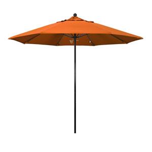 9 Foot Umbrella Complete Fiberglass Market Pulley Open Black/Pacifica/Tuscan