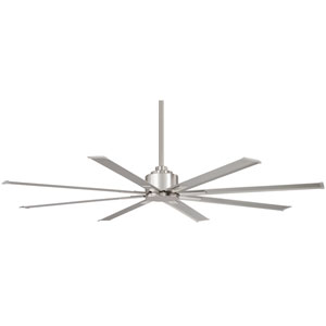 XTREME H2O Brushed Nickel 84-Inch Slipstream Wet Location Ceiling Fan