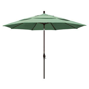 11 Foot Umbrella Aluminum Market Collar Tilt Double Vent Bronze/Pacifica/Spa