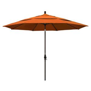 11 Foot Umbrella Aluminum Market Collar Tilt Double Vent Bronze/Pacifica/Tuscan
