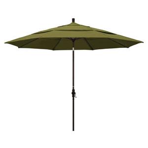 11 Foot Umbrella Aluminum Market Collar Tilt Double Vent Bronze/Pacifica/Palm