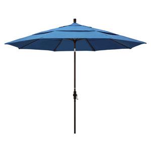 11 Foot Umbrella Aluminum Market Collar Tilt Double Vent Bronze/Pacifica/Capri