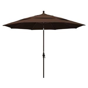 11 Foot Umbrella Aluminum Market Collar Tilt Double Vent Bronze/Pacifica/Mocha
