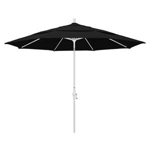 11 Foot Umbrella Aluminum Market Collar Tilt Double Vent Matted White/Pacifica/Black