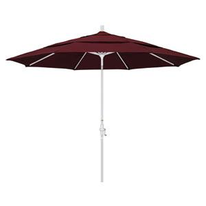 11 Foot Umbrella Aluminum Market Collar Tilt Double Vent Matted White/Pacifica/Burgandy