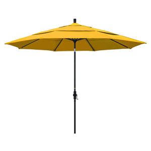 11 Foot Umbrella Aluminum Market Collar Tilt Double Vent Matted Black/Pacifica/Yellow