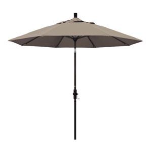 9 Foot Aluminum Market Umbrella Collar Tilt Bronze/Sunbrella/Canvas