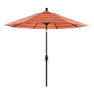 9 Foot Aluminum Market Umbrella Collar Tilt Bronze/Sunbrella/Dolce Mango