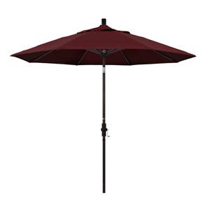 9 Foot Umbrella Aluminum Market Collar Tilt - Bronze/Pacifica/Burgandy