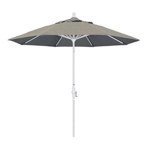 9 Foot Aluminum Market Umbrella Collar Tilt Matted White/Sunbrella/Spectrum Dove