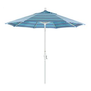 9 Foot Aluminum Market Umbrella Collar Tilt Matted White/Sunbrella/Dolce Oasis