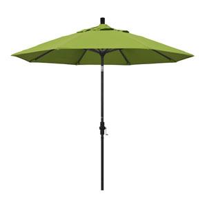 9 Foot Aluminum Market Umbrella Collar Tilt Matted Black/Sunbrella/Macaw