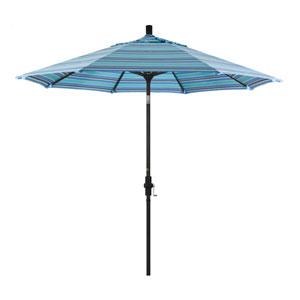 9 Foot Aluminum Market Umbrella Collar Tilt Matted Black/Sunbrella/Dolce Oasis